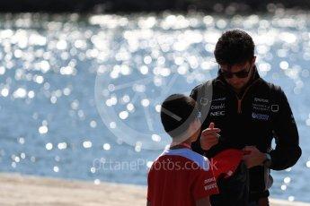 World © Octane Photographic Ltd. Formula 1 - Canadian Grand Prix - Sunday Paddock. Sergio Perez - Sahara Force India VJM10. Circuit Gilles Villeneuve, Montreal, Canada. Sunday 11th June 2017. Digital Ref: 1855LB1D7176