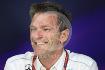 World © Octane Photographic Ltd. Formula 1 - Canadian Grand Prix - Friday FIA Team Personnel Press Conference. James Allison - Technical Director of Mercedes-AMG Petronas Motorsport. Circuit Gilles Villeneuve, Montreal, Canada. Friday 9th June 2017. Digital Ref: 1852LB1D4317