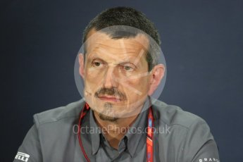 World © Octane Photographic Ltd. Formula 1 - Canadian Grand Prix - Friday FIA Team Personnel Press Conference. Guenther Steiner - Team Principal of Haas F1 Team. Circuit Gilles Villeneuve, Montreal, Canada. Friday 9th June 2017. Digital Ref: 1852LB1D4337