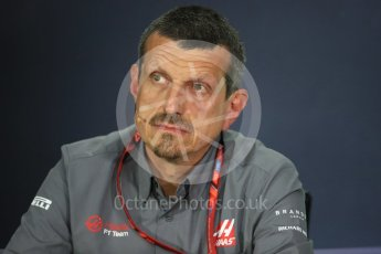 World © Octane Photographic Ltd. Formula 1 - Canadian Grand Prix - Friday FIA Team Personnel Press Conference. Guenther Steiner - Team Principal of Haas F1 Team. Circuit Gilles Villeneuve, Montreal, Canada. Friday 9th June 2017. Digital Ref: 1852LB1D4368