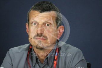 World © Octane Photographic Ltd. Formula 1 - Canadian Grand Prix - Friday FIA Team Personnel Press Conference. Guenther Steiner - Team Principal of Haas F1 Team. Circuit Gilles Villeneuve, Montreal, Canada. Friday 9th June 2017. Digital Ref: 1852LB1D4407