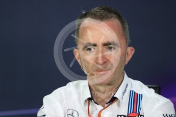 World © Octane Photographic Ltd. Formula 1 - Canadian Grand Prix - Friday FIA Team Personnel Press Conference. Paddy Lowe - Chief Technical Officer at Williams Martini Racing. Circuit Gilles Villeneuve, Montreal, Canada. Friday 9th June 2017. Digital Ref: 1852LB1D4463