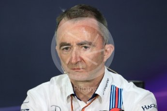 World © Octane Photographic Ltd. Formula 1 - Canadian Grand Prix - Friday FIA Team Personnel Press Conference. Paddy Lowe - Chief Technical Officer at Williams Martini Racing. Circuit Gilles Villeneuve, Montreal, Canada. Friday 9th June 2017. Digital Ref: 1852LB1D4518