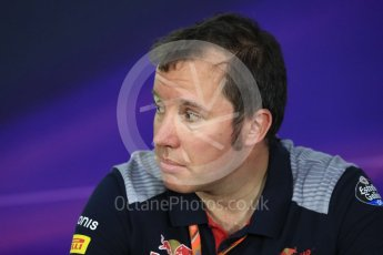 World © Octane Photographic Ltd. Formula 1 - Canadian Grand Prix - Friday FIA Team Personnel Press Conference. Jody Egginton - Head of Vehicle Performance. Circuit Gilles Villeneuve, Montreal, Canada. Friday 9th June 2017. Digital Ref: 1852LB1D4556