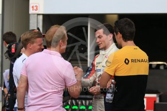 World © Octane Photographic Ltd. Formula 1 - Monaco Formula Renault Eurocup Qualifying. Will Palmer – R-ace GP with brother Jolyon Palmer - Renault Sport F1 Team and father Jonathan Palmer. Monaco, Monte Carlo. Friday 26th May 2017. Digital Ref: