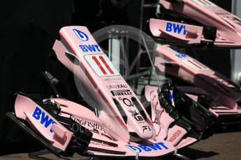 World © Octane Photographic Ltd. Formula 1 - Monaco Grand Prix Setup. Sergio Perez - Sahara Force India VJM10. Monaco, Monte Carlo. Wednesday 24th May 2017. Digital Ref: