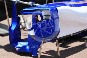 World © Octane Photographic Ltd. Formula 1 - Monaco Grand Prix Setup. Sauber F1 Team C36. Monaco, Monte Carlo. Wednesday 24th May 2017. Digital Ref: