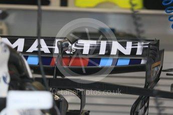 World © Octane Photographic Ltd. Formula 1 - Monaco Grand Prix Setup. Williams Martini Racing FW40. Monaco, Monte Carlo. Wednesday 24th May 2017. Digital Ref: