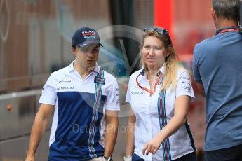 World © Octane Photographic Ltd. Formula 1 - Monaco Grand Prix Setup. Felipe Massa - Williams Martini Racing FW40. Monaco, Monte Carlo. Wednesday 24th May 2017. Digital Ref: