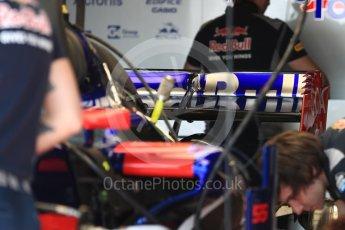 World © Octane Photographic Ltd. Formula 1 - Monaco Grand Prix Setup. Scuderia Toro Rosso STR12. Monaco, Monte Carlo. Wednesday 24th May 2017. Digital Ref: