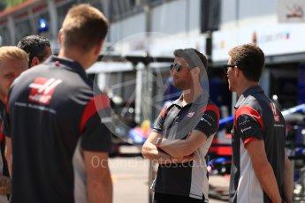 World © Octane Photographic Ltd. Formula 1 - Monaco Grand Prix Setup. Romain Grosjean - Haas F1 Team VF-17. Monaco, Monte Carlo. Wednesday 24th May 2017. Digital Ref:
