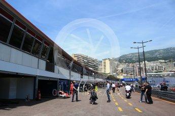 World © Octane Photographic Ltd. Formula 1 - Monaco Grand Prix Setup. Pitlane setup. Monaco, Monte Carlo. Wednesday 24th May 2017. Digital Ref: