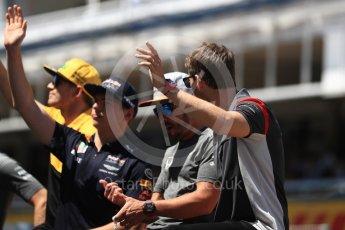 World © Octane Photographic Ltd. Formula 1 - Spanish Grand Prix Driver's Parade. Romain Grosjean - Haas F1 Team VF-17. Circuit de Barcelona - Catalunya, Spain. Sunday 14th May 2017. Digital Ref: 1824LB1D3673