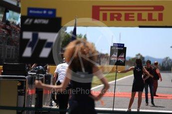 World © Octane Photographic Ltd. Formula 1 - Spanish Grand Prix Grid. Lewis Hamilton - Mercedes AMG Petronas F1 W08 EQ Energy+. Circuit de Barcelona - Catalunya, Spain. Sunday 14th May 2017. Digital Ref:1824LB1D3694