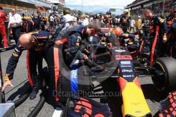 World © Octane Photographic Ltd. Formula 1 - Spanish Grand Prix Grid. Max Verstappen - Red Bull Racing RB13. Circuit de Barcelona - Catalunya, Spain. Sunday 14th May 2017. Digital Ref:1824LB2D8785