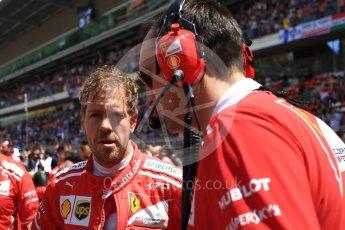 World © Octane Photographic Ltd. Formula 1 - Spanish Grand Prix Grid. Sebastian Vettel - Scuderia Ferrari SF70H. Circuit de Barcelona - Catalunya, Spain. Sunday 14th May 2017. Digital Ref:1824LB2D8815
