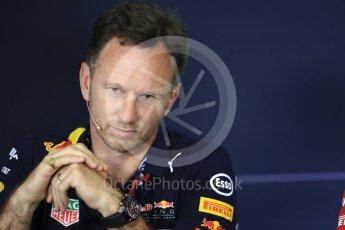 World © Octane Photographic Ltd. Formula 1 - Spanish Grand Prix – FIA Team Press Conference – Part 2. Christian Horner - Team Principal of Red Bull Racing. Circuit de Barcelona - Catalunya. Thursday 11th May 2017. Digital Ref: 1815LB1D0107