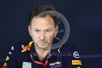 World © Octane Photographic Ltd. Formula 1 - Spanish Grand Prix – FIA Team Press Conference – Part 2. Christian Horner - Team Principal of Red Bull Racing. Circuit de Barcelona - Catalunya. Thursday 11th May 2017. Digital Ref: 1815LB1D0142