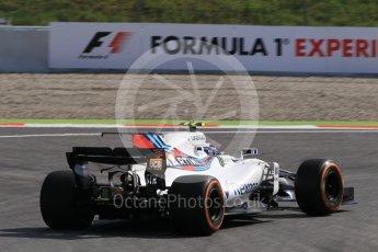 World © Octane Photographic Ltd. Formula 1 - Spanish Grand Prix Practice 1. Lance Stroll - Williams Martini Racing FW40. Circuit de Barcelona - Catalunya, Spain. Friday 12th May 2017. Digital Ref: 1810CB1L8015
