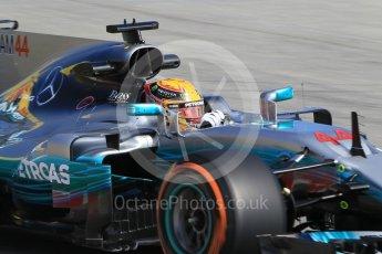 World © Octane Photographic Ltd. Formula 1 - Spanish Grand Prix Practice 1. Lewis Hamilton - Mercedes AMG Petronas F1 W08 EQ Energy+. Circuit de Barcelona - Catalunya, Spain. Friday 12th May 2017. Digital Ref: 1810CB1L8024