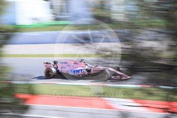World © Octane Photographic Ltd. Formula 1 - Spanish Grand Prix - Practice 1. Sergio Perez - Sahara Force India VJM10. Circuit de Barcelona - Catalunya. Friday 12th May 2017. Digital Ref: 1810CB7D4053