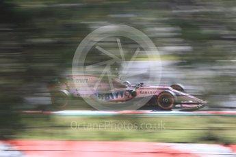 World © Octane Photographic Ltd. Formula 1 - Spanish Grand Prix - Practice 1. Sergio Perez - Sahara Force India VJM10. Circuit de Barcelona - Catalunya. Friday 12th May 2017. Digital Ref: 1810CB7D4056