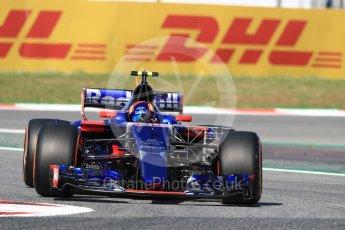 World © Octane Photographic Ltd. Formula 1 - Spanish Grand Prix - Practice 1. Carlos Sainz - Scuderia Toro Rosso STR12. Circuit de Barcelona - Catalunya. Friday 12th May 2017. Digital Ref: 1810LB1D9039