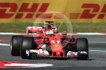 World © Octane Photographic Ltd. Formula 1 - Spanish Grand Prix Practice 1. Sebastian Vettel - Scuderia Ferrari SF70H. Circuit de Barcelona - Catalunya, Spain. Friday 12th May 2017. Digital Ref: 1810LB1D9230