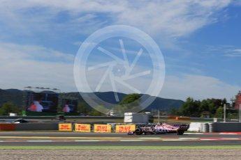 World © Octane Photographic Ltd. Formula 1 - Spanish Grand Prix Practice 1. Sergio Perez - Sahara Force India VJM10. Circuit de Barcelona - Catalunya, Spain. Friday 12th May 2017. Digital Ref: 1810LB2D7531