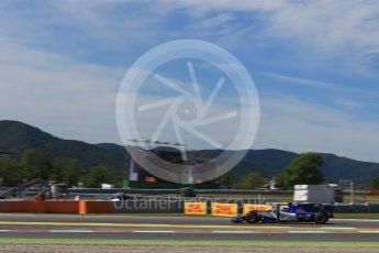 World © Octane Photographic Ltd. Formula 1 - Spanish Grand Prix - Practice 1. Pascal Wehrlein – Sauber F1 Team C36. Circuit de Barcelona - Catalunya. Friday 12th May 2017. Digital Ref: 1810LB2D7553