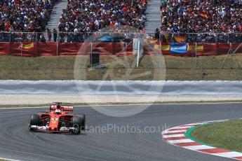 World © Octane Photographic Ltd. Formula 1 - Spanish Grand Prix Race. Sebastian Vettel - Scuderia Ferrari SF70H. Circuit de Barcelona - Catalunya, Spain. Sunday 14th May 2017. Digital Ref:1825LB1D3911