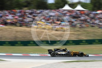 World © Octane Photographic Ltd. Formula 1 - Spanish Grand Prix Race. Jolyon Palmer - Renault Sport F1 Team R.S.17. Circuit de Barcelona - Catalunya, Spain. Sunday 14th May 2017. Digital Ref:1825LB1D4215
