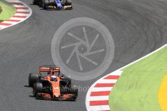 World © Octane Photographic Ltd. Formula 1 - Spanish Grand Prix Race. Fernando Alonso - McLaren Honda MCL32. Circuit de Barcelona - Catalunya, Spain. Sunday 14th May 2017. Digital Ref:1825LB2D8909