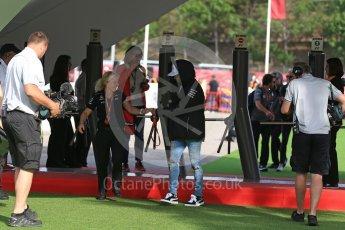 World © Octane Photographic Ltd. Formula 1 - Spanish Grand Prix Paddock. Lewis Hamilton - Mercedes AMG Petronas F1 W08 EQ Energy+. Circuit de Barcelona - Catalunya, Spain. Saturday 13th May 2017. Digital Ref: 1809LB2D8154
