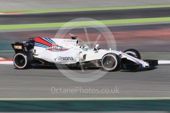 World © Octane Photographic Ltd. Formula 1 winter test 1, Williams martini Racing FW40 – Felipe Massa. Circuit de Barcelona-Catalunya. Monday 27th February 2017. Digital Ref :1780CB1D2673