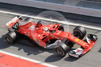World © Octane Photographic Ltd. Formula 1 - Winter Test 1. Sebastian Vettel - Scuderia Ferrari SF70H. Circuit de Barcelona-Catalunya. Monday 27th February 2017. Digital Ref :1780CB1D2721