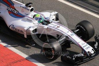 World © Octane Photographic Ltd. Formula 1 - Winter Test 1. Felipe Massa, - Williams Martini Racing FW40. Circuit de Barcelona-Catalunya. Monday 27th February 2017. Digital Ref :1780CB1D2847