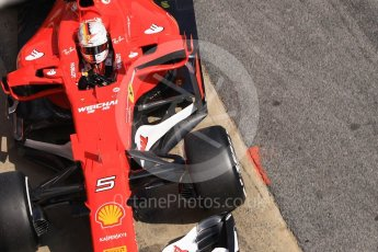 World © Octane Photographic Ltd. Formula 1 - Winter Test 1. Sebastian Vettel - Scuderia Ferrari SF70H. Circuit de Barcelona-Catalunya. Monday 27th February 2017. Digital Ref :1780CB1D2901