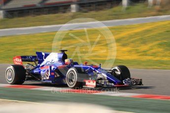 World © Octane Photographic Ltd. Formula 1 - Winter Test 1. Carlos Sainz - Scuderia Toro Rosso STR12. Circuit de Barcelona-Catalunya. Monday 27th February 2017. Digital Ref :1780CB1D3029
