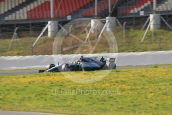 World © Octane Photographic Ltd. Formula 1 - Winter Test 1. Lewis Hamilton - Mercedes AMG Petronas F1 W08 EQ Energy+. Circuit de Barcelona-Catalunya. Monday 27th February 2017. Digital Ref :1780CB1D3039