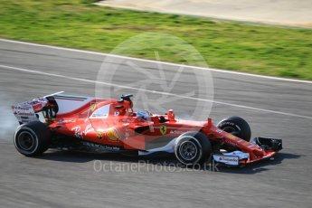 World © Octane Photographic Ltd. Formula 1 - Winter Test 1. Sebastian Vettel - Scuderia Ferrari SF70H. Circuit de Barcelona-Catalunya. Monday 27th February 2017. Digital Ref :1780CB1D3100
