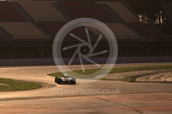 World © Octane Photographic Ltd. Formula 1 - Winter Test 1. Lewis Hamilton - Mercedes AMG Petronas F1 W08 EQ Energy+. Circuit de Barcelona-Catalunya. Monday 27th February 2017. Digital Ref :1780CB1D3365