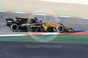 World © Octane Photographic Ltd. Formula 1 - Winter Test 1. Nico Hulkenberg - Renault Sport F1 Team R.S.17. Circuit de Barcelona-Catalunya. Monday 27th February 2017. Digital Ref : 1780CB1D3540