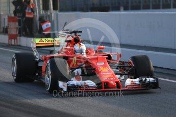 World © Octane Photographic Ltd. Formula 1 winter test 1, Scuderia Ferrari SF70H – Sebastian Vettel. Circuit de Barcelona-Catalunya. Monday 27th February 2017. Digital Ref :1780CB1D6062