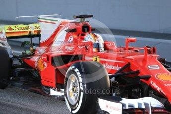 World © Octane Photographic Ltd. Formula 1 winter test 1, Scuderia Ferrari SF70H – Sebastian Vettel. Circuit de Barcelona-Catalunya. Monday 27th February 2017. Digital Ref :1780CB1D6064