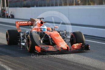 World © Octane Photographic Ltd. Formula 1 winter test 1, McLaren Honda MCL32. – Fernando Alonso. Circuit de Barcelona-Catalunya. Monday 27th February 2017. Digital Ref :1780CB1D6181