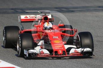 World © Octane Photographic Ltd. Formula 1 winter test 1, Scuderia Ferrari SF70H – Sebastian Vettel. Circuit de Barcelona-Catalunya. Monday 27th February 2017. Digital Ref :1780CB1D6379