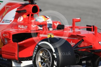 World © Octane Photographic Ltd. Formula 1 winter test 1, Scuderia Ferrari SF70H – Sebastian Vettel. Circuit de Barcelona-Catalunya. Monday 27th February 2017. Digital Ref :1780CB1D6386