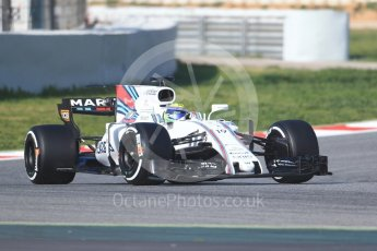 World © Octane Photographic Ltd. Formula 1 winter test 1, Williams martini Racing FW40 – Felipe Massa. Circuit de Barcelona-Catalunya. Monday 27th February 2017. Digital Ref :1780CB1D6487