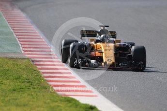 World © Octane Photographic Ltd. Formula 1 - Winter Test 1. Nico Hulkenberg - Renault Sport F1 Team R.S.17. Circuit de Barcelona-Catalunya. Monday 27th February 2017. Digital Ref :1780CB1D6679